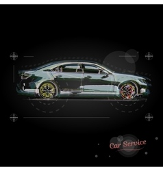 Car service logo booklet for business vector image vector image