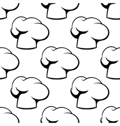 Chef toque outline seamless pattern vector