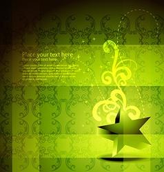 green star artwork vector image