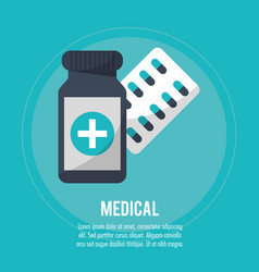 medical pharmacy medicine health vector image