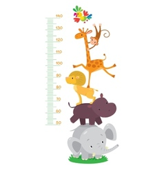 Meter wall or height meter with funny animals vector image vector image