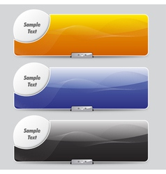sliders or banners vector image vector image