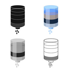 water filter cartridge icon in cartoon style vector image vector image