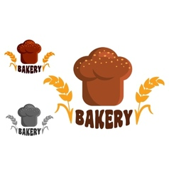 Bakery logo or emblems vector image vector image