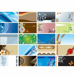 Collection of backgrounds vector