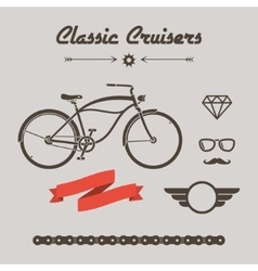 Custom bicycle vector image vector image