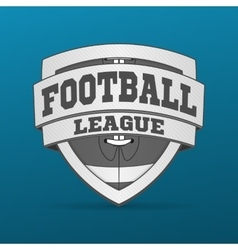 American Football graphic Label vector image