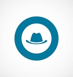 Classic hat bold blue border circle icon vector