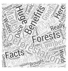 Deforestation facts and myths word cloud concept vector