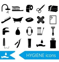 hygiene theme modern simple black icons set eps10 vector image vector image