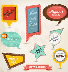 Retro speech bubbles vector image