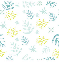 seamless natural elements decorative pattern vector image vector image
