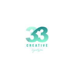 33 green pastel gradient number numeral digit vector