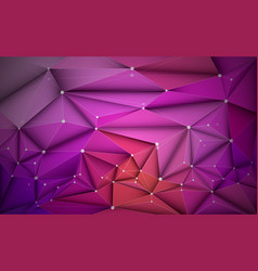 3d geometric polygon with molecule structure vector