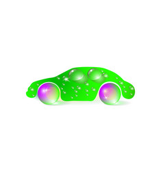 a green concept of eco car vector image