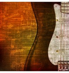 Abstract brown grunge vintage sound background vector