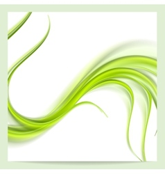 Abstract elegant green wavy pattern background vector
