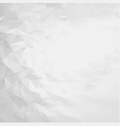 abstract white and gray triangular background vector image vector image