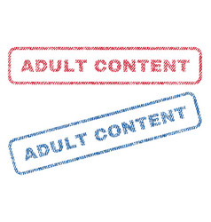Adult content textile stamps vector