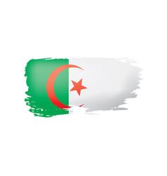 Algeria flag on a white vector