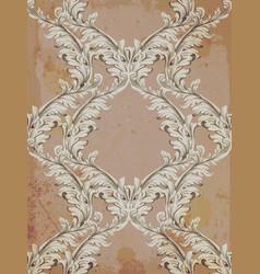 baroque pattern grunge background vintage vector image vector image