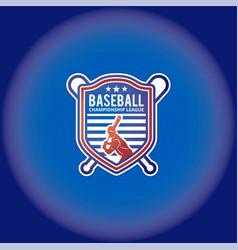 baseball logo template vector image