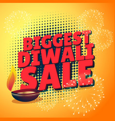 Biggest diwali sale discount offer presentation vector