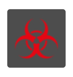Biohazard Symbol Rounded Square Button vector
