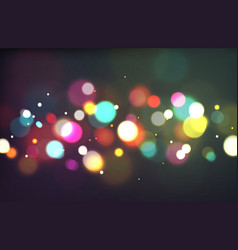 bokeh color light glowing blurry sparkles on vector image