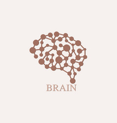 brain logo design template icon vector image