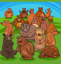Cartoon bears animal characters vector