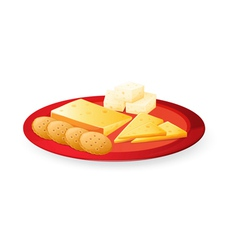 Cheese biscuits in plate vector