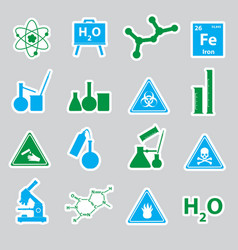 Chemistry color stickers set eps10 vector