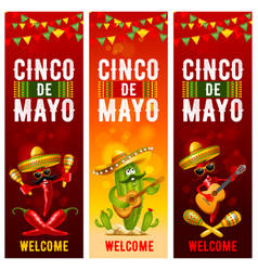 Cinco de mayo banners set vector