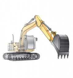 crawler excavator carcass vector image