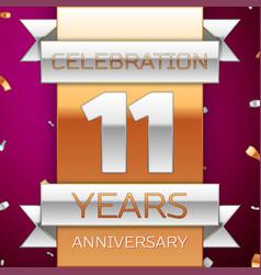 eleven years anniversary celebration design vector image
