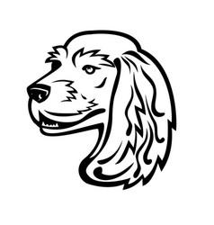 english cocker spaniel head mascot black and white vector image