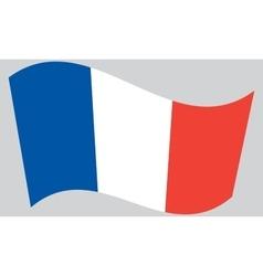 Flag france waving vector
