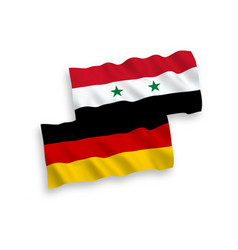 Flags syria and germany on a white background vector