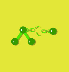 Flat icon design collection atom and broken chain vector