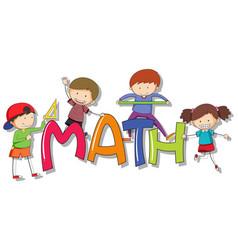 Font design for word math vector