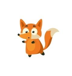 Fox carefully walking away vector