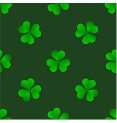 green irish trefoil clover for st patricks day vector image