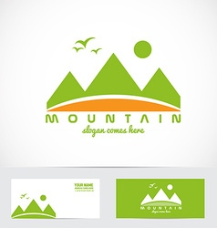 Green mountain logo vector image
