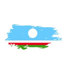 grunge brush stroke with sakha republic national vector image