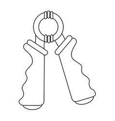 Hand grip accesory vector