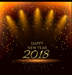 happy new year party background with golden vector image