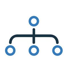 Hierarchy site map icon design vector