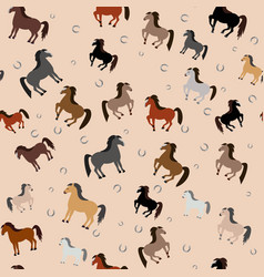 horses in different colors vector image