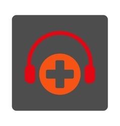 Hospital Call Service Flat Button vector
